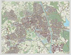 Dutch Topographic map of Helmond (city), March 2014