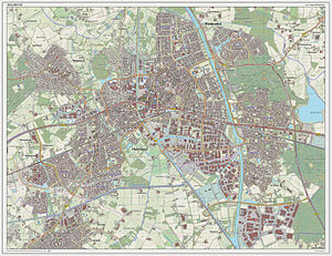 Helmond - Dutch Topographic map of Helmond (city), March 2014