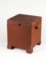 Hemgjord nattstol (potta) i form av låda i rödmålad furu från 1800-talet - Skoklosters slott - 95289.tif