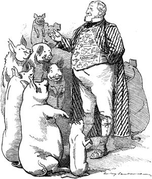 Henry Chaplin, 1st Viscount Chaplin - Image: Henry Chaplin, 1st Viscount Chaplin Punch cartoon Project Gutenberg e Text 14845