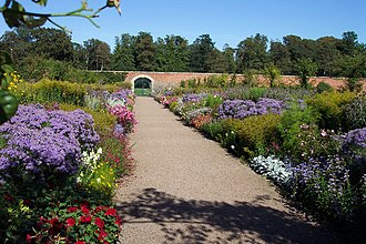 Kelso, Scottish Borders - Walled garden at Floors Castle
