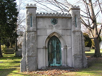 Herbert Brenon - The mausoleum of Herbert Brenon in Woodlawn Cemetery