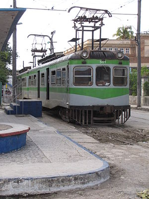 Hershey Electric Railway - Train waiting to depart at Havana Casablanca station