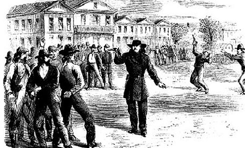 Hickock Tutt Duel 1867 Harpers Monthly Magazine