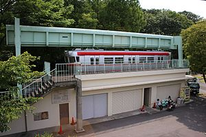 SAFEGE - The preserved car and track of the Higashiyama Zoo Monorail in 2017