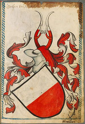 Count of Hohenberg - Coat of arms of Hohenberg in the armorial of Scheibler of 1450