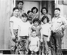 Young Mike Honda (bottom Middle) With His Family