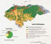 Land use map of Honduras, 1983