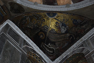 Hosios Loukas Katholikon (nave, South-East squinch) - Nativity 02.jpg