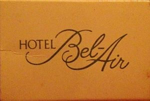Hotel Bel-Air - Matchbook from hotel circa 1990