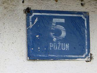 Požun, Croatia - House number in Požun (Ozalj)