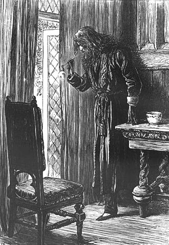 The House of the Seven Gables - 1875 illustration of Clifford Pyncheon, John Dalziel
