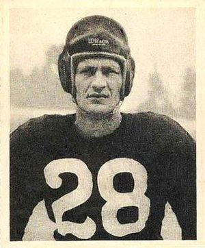 Hugh Taylor (American football) - Taylor on a 1948 Bowman football card