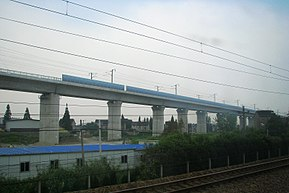 Huhang High-speed railway in construction.jpg