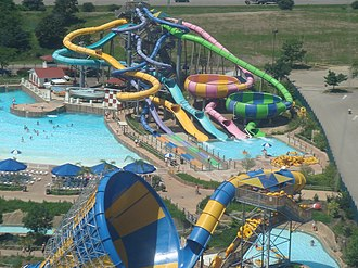 Six Flags Hurricane Harbor - Six Flags Hurricane Harbor located within Six Flags Great America