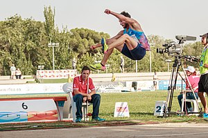 Emiliano Lasa - Emiliano Lasa jumping during the IAAF World Challenge Madrid Meeting 2017.