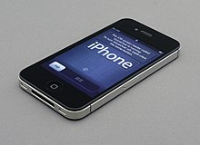 The screen shown when the user first purchases an iPhone 4S. It is the setup screen.