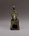 Ibis on a shrine shaped box, probably for an animal mummy MET 04.2.460 EGDP014644.jpg