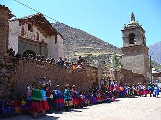 Víctor Fajardo Province - The church of Sarhua
