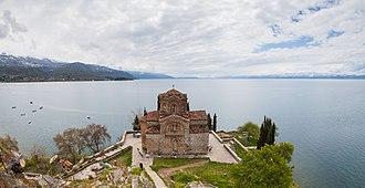 Church of St. John at Kaneo - Image: Iglesia San Juan Kaneo, Ohrid, Macedonia, 2014 04 17, DD 20