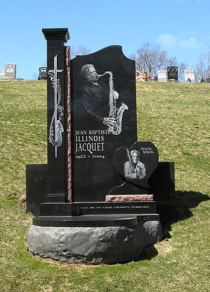 Illinois Jacquet - Illinois Jacquet's gravesite at Woodlawn Cemetery in The Bronx, New York.