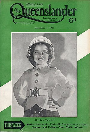 Wee Willie Winkie (film) - Front cover of The Queenslander to publicize the film in Australia