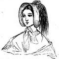 Illustrirte Zeitung (1843) 03 016 2 Hut mit zweifarbigen Reiherfedern.PNG