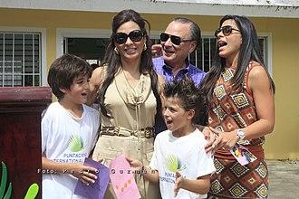 Frank Rainieri - Frank Rainieri with his family