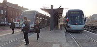 Inauguration de la branche vers Vieux-Condé de la ligne B du tramway de Valenciennes le 13 décembre 2013 (062).JPG