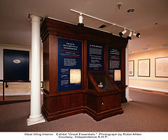 Independence National Historical Park West wing exhibit.jpg
