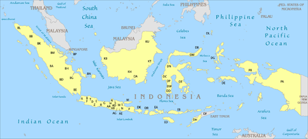 Number Plate Area Codes >> Vehicle registration plates of Indonesia - Wikipedia