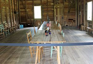 Washington-on-the-Brazos, Texas - Inside the building where Texan independence was declared on March 2, 1836
