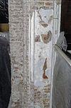 interieur, ontpleisterde zuil met fragmenten van schildering - hattem - 20353093 - rce