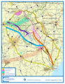 Interstate 3 study proposed corridors.png