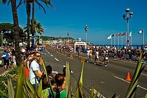 English: The 2009 Ironman France on the Promen...