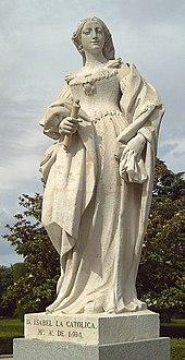 Statua d'Isabella di Castiglia a Madrid (G.D. Olivieri, 1753).