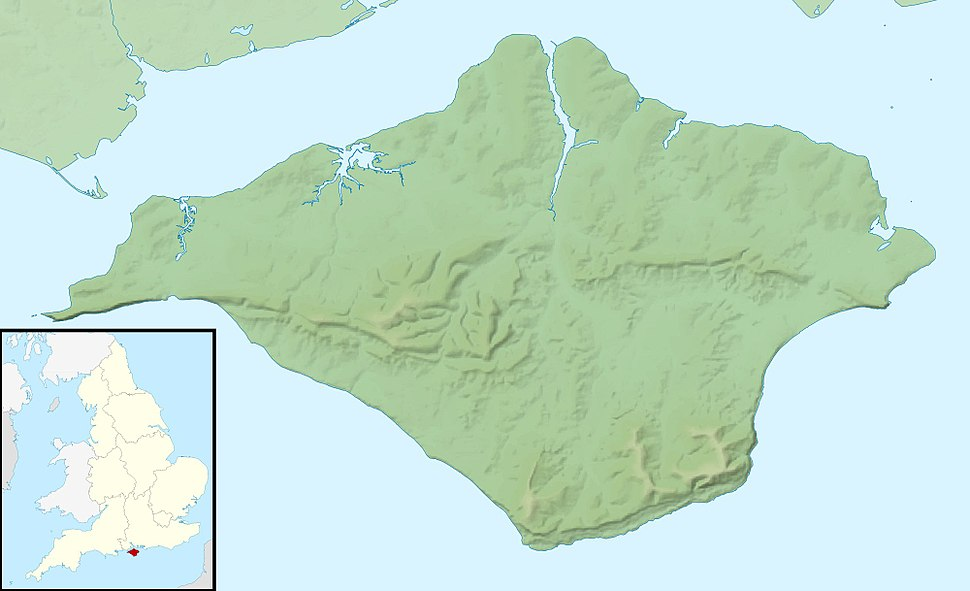Isle of Wight UK relief location map