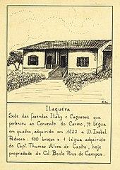 Itaquéra. Sede das Fazendas Itahy e Caguassú Que Pertenceu ao Convento do Carmo, 1/2 Légua em Quadra, Adquirido em 1722 a D. Isabel Pedroza (...)