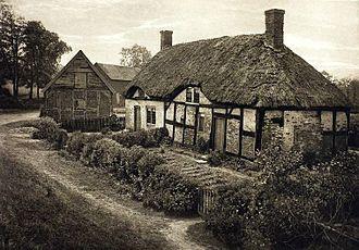 Izaak Walton - Photogravure of Walton's Shallowford house, 1888