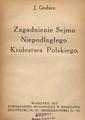 J. Grabiec - Zagadnienie Sejmu Niepodległego Królestwa Polskiego.pdf