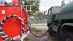 JASDF Type 73 Water Tender(47-7219) hose at Aibano Sub Base November 28, 2015.jpg