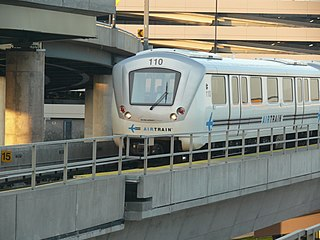 AirTrain JFK People mover system at JFK Airport in New York City