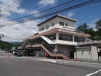 Naganohara-Kusatsuguchi Station - The previous station building, August 2012