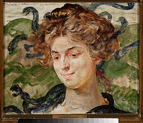 Portret aktorki Heleny Sulimy jako Gorgony