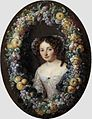 Jacob Ferdinand Voet - Portrait of a Lady, Framed by a Wreath of Grapes, Apples and Plums.jpg