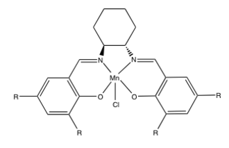 Jacobsen epoxidation - Image: Jacobsens Catalysts