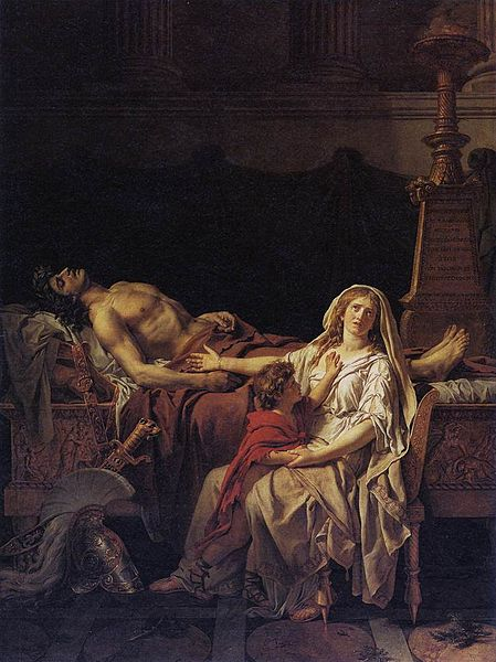 File:Jacques-Louis David - Andromache Mourning Hector - WGA6050.jpg