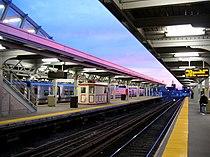 Jamaica station sunset, waiting.jpg