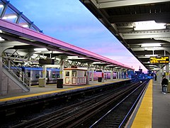 Jamaica station sunset, waiting.jpg