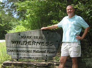 Mark Trail - James Allen at the head of the Mark Trail Wilderness in the Chattahoochee National Forest